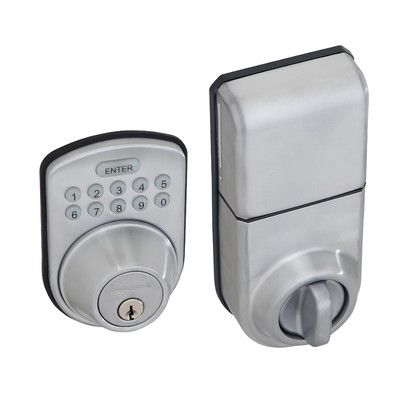 Honeywell Digital Single Cylinder Keyless Electronic Deadbolt Finish: Satin Chrome