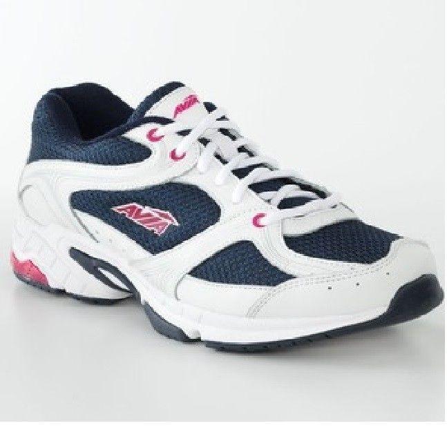 "AVIA- Women Size ""6"" ""Black/White"" Ladies Lightweight Running Athletic Shoes"
