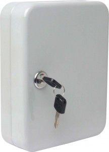 White Wall Mounted Locking Key Cabinet