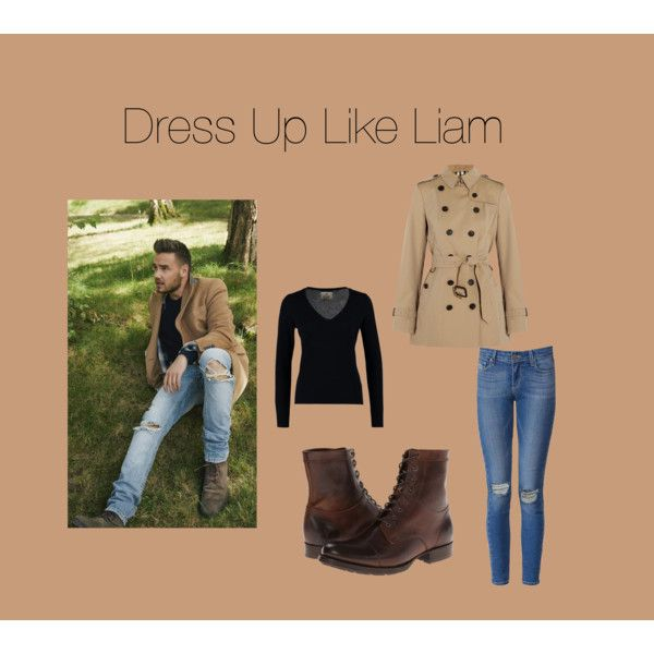 Dress Up Like Liam by edithtoth on Polyvore featuring FTC, Burberry, Paige Denim and Frye