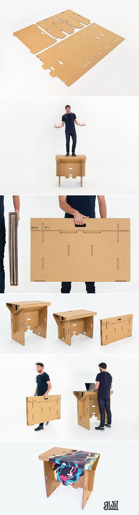 Most of us already know the many benefits of standing desks, but buying new office furniture can get expensive. These standing desks by Refold are an ideal solution, as they're lightweight and portable so they can be assembled in just a few seconds and then tucked away when no longer in use. Refold desks are 100 percent recyclable, weigh just 6.5 kg (14 lbs), and fold up into a self-contained carry case.