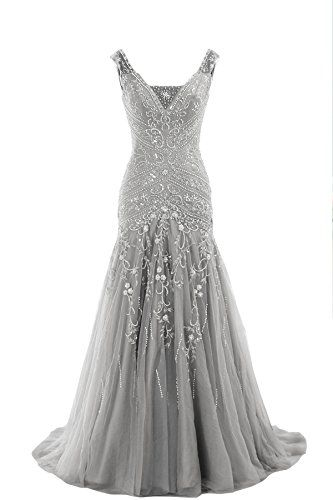 Cocomelody A Line V Neck Long Beaded Evening Dress Bmmc0009 Silver 2 COCOMELODY http://www.amazon.com/dp/B00P0RBKYI/ref=cm_sw_r_pi_dp_CXWcvb17PPFZW