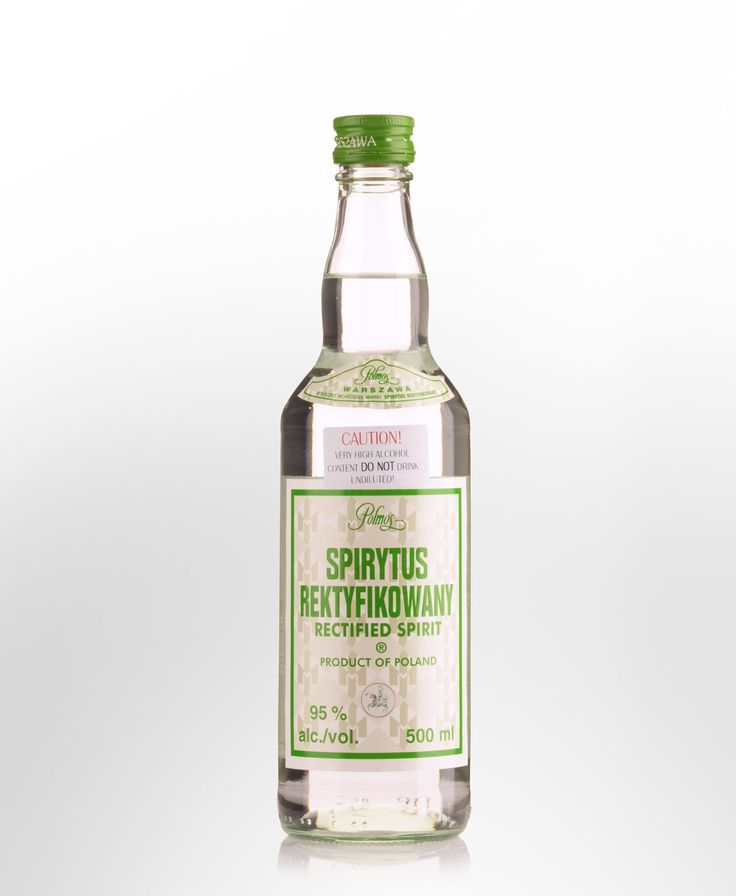Polmos Spirytus Rektyfikowany (Rectified Spirit) Polish Pure Spirit Vodka (500ml)