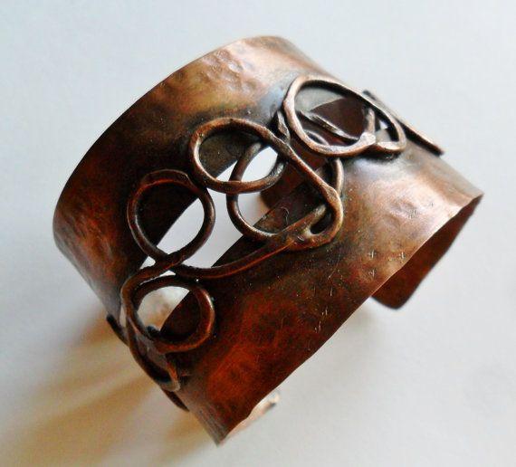 Copper Swirls Copper Cuff Metal Work Cuff by stacyjayjewelry, $85.00