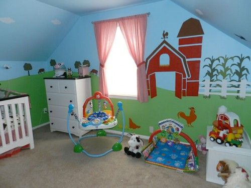 girls farm themed room | Farm Themed Nursery Decor