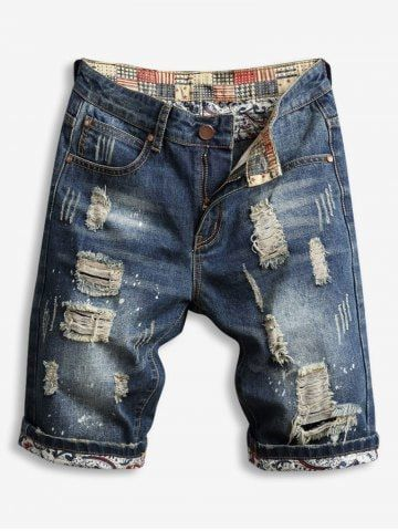 d139c16f8d6 Destroy Wash Zipper Fly Jean Shorts in 2019 | men's pants and jeans | Jean  shorts, Denim shorts, Ripped jean shorts