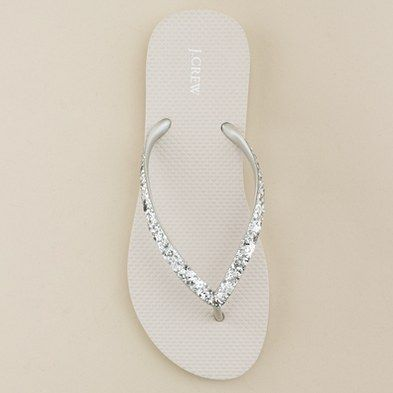 Crew sparkly flip flops: Idea, Sweet, Parties Gifts