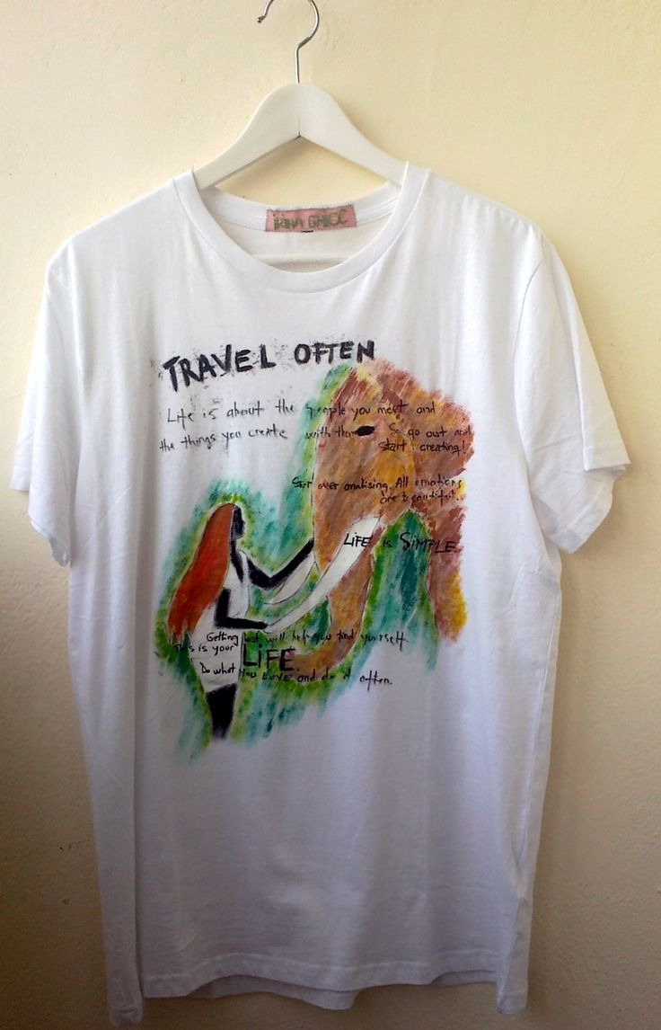 """""""The Girl and the Elephant"""" painted t-shirt"""