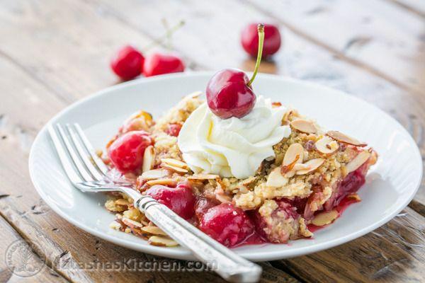 Cherry Crumble Recipe-8   Dessert Recipes   Pinterest   Cherries and ...