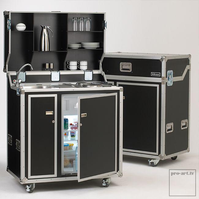 Pro Art Kitcase Kofferküche mit Kühlschrank ohne Kochfeld | ohne Transportcover | ohne Besteckauszug | mit Boiler + Niederdruck-Amartur