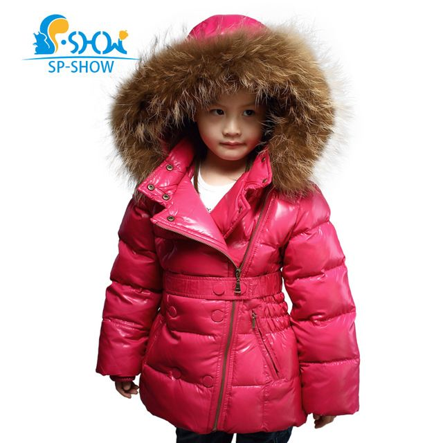 Girls Winter Coat Luxury Brand Girls Winter Fur Hooded Thickened Snowsuit Children Jackets Kids Parkas For 6-12 Age 1620 US $68.88 /piece Specifics Outerwear Type	Down & Parkas Item Type	Outerwear & Coats Clothing Length	Regular Filling	White duck down Closure Type	Zipper Fabric Type	Worsted Down Content	80% Collar	Hooded Decoration	Sashes Sleeve Style	Regular Pattern Type	Solid Style	Fashion Gender	Girls Material	Down,Microfiber,Polyester   Click to Buy :http://goo.gl/t9O329