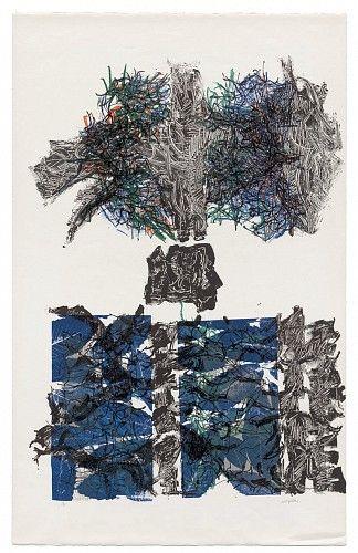 JEAN PAUL RIOPELLE, Feuilles VI 1967, lithographie originale en couleurs / original colour lithograph