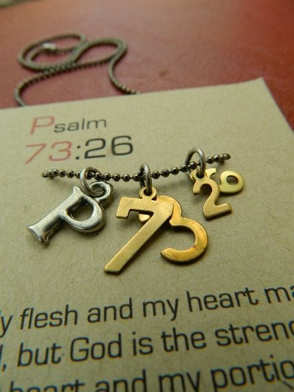 Psalm 7326 christian necklaceMy flesh and my by ThisWordsForYou, $28.00