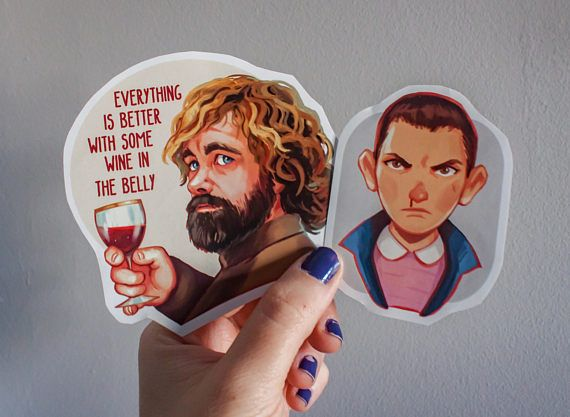 Tyrion Game of Thrones y Eleven Stranger Things  Pack de