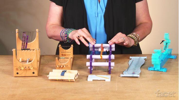 Jane Danley Cruz shares her favorite features of six portable beading looms including The Ricks Beading Loom, The Little Ricky Beading Loom, Clover Beading Loom, Beadalon Jewel Loom, Endless Loom, Clover Mini Beading Loom, and the Wrapit Loom.
