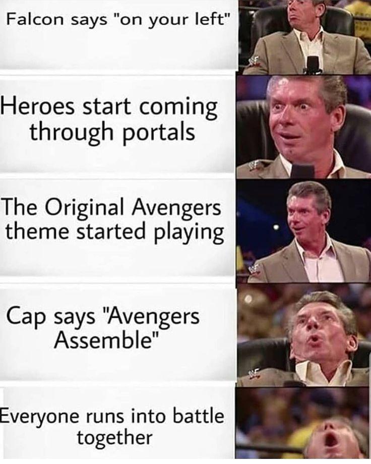 C'était nous tous _ Suivez 👉M C.hub pour des choses encore plus étonnantes _ _ #marvel …  – Marvel Memes