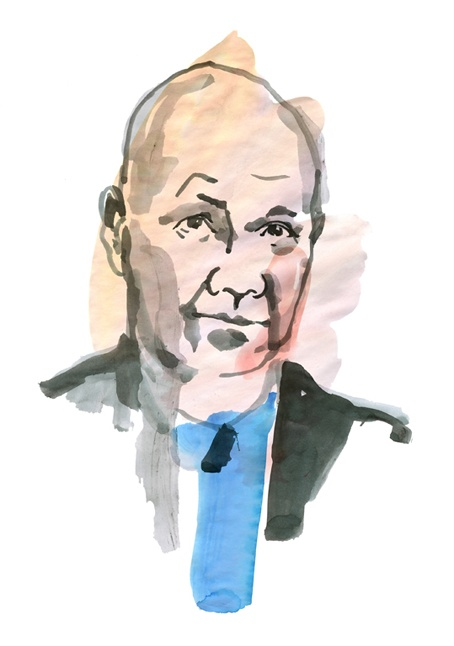 Interview with Peter Englund (historian and member of the Swedish Academy) for Scanorama Magazine. Illustration by Hanna Wieslander.