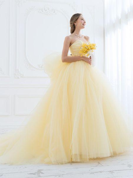 Cinderella & Co.  (シンデレラ・アンド・コー)  ビタミンカラーイエローのチュールカラードレスSS5591YE