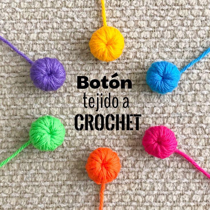 Crochet: aprendamos a tejer botones  Video tutorial!