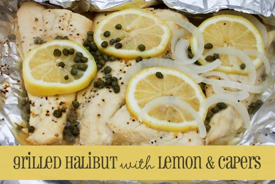 Grilled Halibut With Lemons Capers I grew up in Alaska – so we ate a lot of halibut growing up. I think I've had it a dozen different ways – but one of my favorite ways is one of the easiest ways to make halibut –  You can prep it and get it on the grill in under five minutes. Really. It's so easy. Then it only takes another six to 10 minutes to cook! Click through for this delicious summertime recipe! Queen Bee Coupons