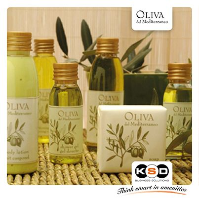 Amenities, oliva del Mediterraneo are capable of delicately cleansing and moisturising, leaving your guests' skintoned, supple and pleasantly scented.