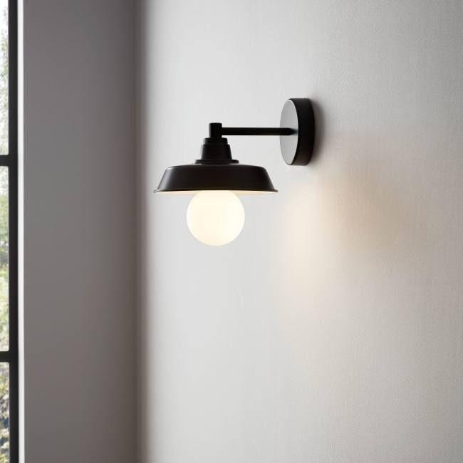 Kinkiet Goodhome Gammuse 1 Punktowy E27 Czarny Kinkiety In 2021 Wall Lights Bathroom Lighting Goodhome