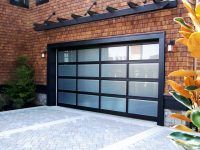 Ekstra style custom garage door - modern styling in a 4x4 design is very low maintenance and has great durability - Automatic Remote Access