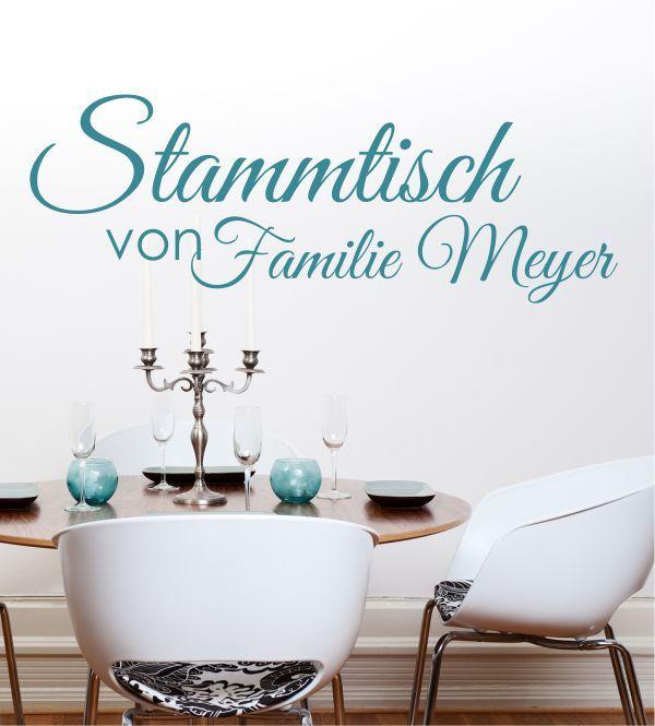 Wandsticker wandtattoos wandaufkleber stammtisch mit eigenem hausnamen küche esszimmer eigener