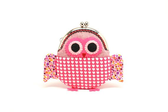 Cute hearty red owl clutch purse by misala on Etsy, $27.90