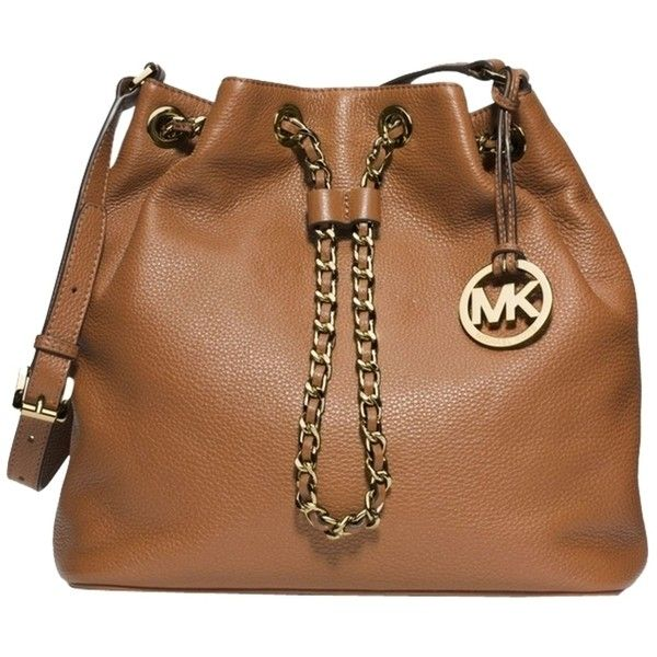 Pre-owned Michael Kors Leather Frankie Convertible Shoulder Bag ($278) ❤ liked on Polyvore featuring bags, handbags, shoulder bags, dark desert sand, leather shoulder bag, genuine leather purse, brown leather purse, michael kors and brown leather shoulder bag