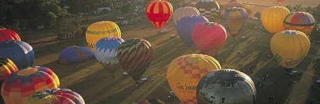 Hot Air Balloon festival, Canowindra, Central NSW. Credit: Destination NSW #Holiday
