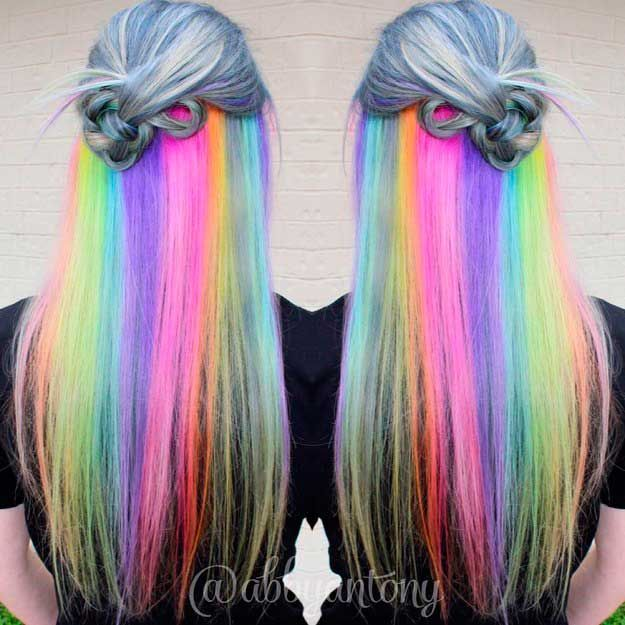 Resultado de imagen para cabello de colores
