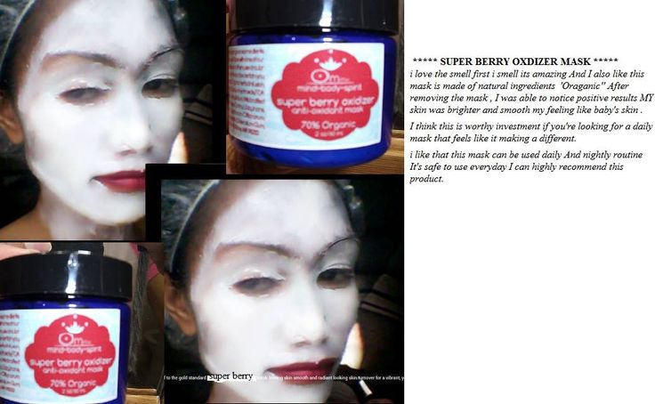 Got a great review from a customer on one of our Organic Masks..Check It Out