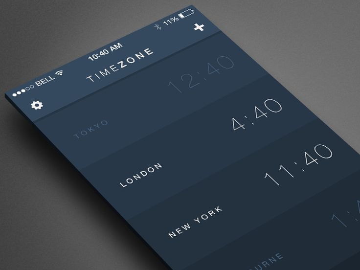 Redesigned Timezone app for iOS 7. I took the existing design for Timezone and made it simpler. I'll start posting more shots of different screens.   The new design switched to a 12-hour clock. The...