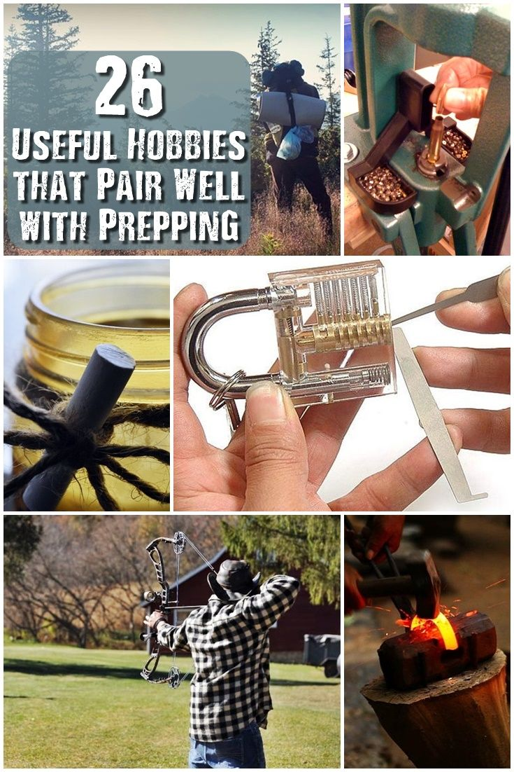 """26 Useful Hobbies that Pair Well with Prepping - George Matthew Allen once said """"People with many interests live, not only the longest, but the happiest."""" This quote hits home for us preppers. A simple hobby you took up years ago can have a huge difference down the road when you need the skill for an emergency, disaster, or when SHTF."""