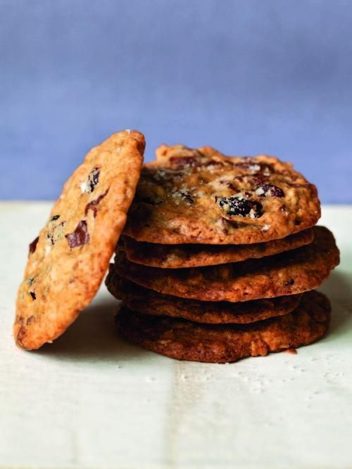 Oatmeal cookies or chocolate chunk cookies—which do you like best? In this recipe, Ina Garten combines them.