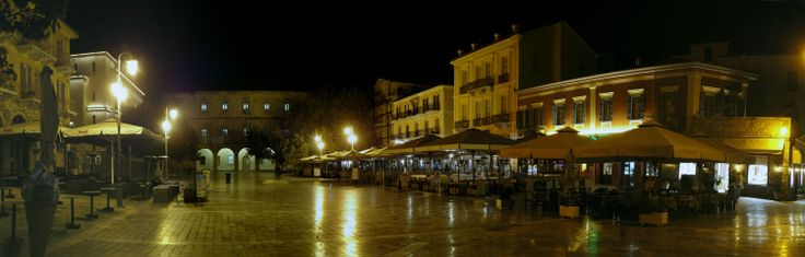 Syntagma Square in the center of the old town of #Nafplio, #Greece