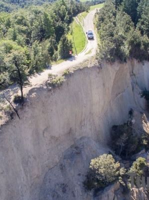 Peter Turners believes this new canyon formed near Waiau following this months magnitude-7.8 earthquake is between 600 ...