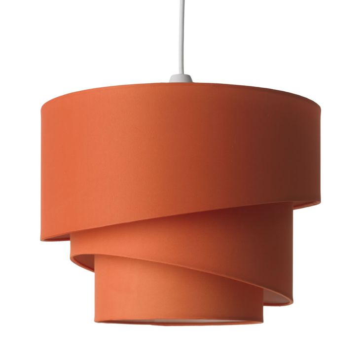 Retro Swirl Burnt Orange Light Shade Lighting Orange