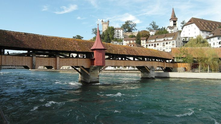 Switzerland, Lucerne, Spreuer Bridge, Bridge, Water #switzerland, #lucerne, #spreuerbridge, #bridge, #water