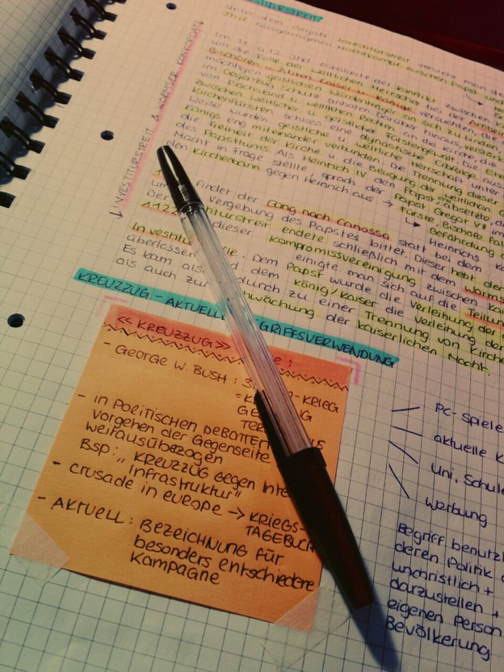 note-spiration.  Rewrite notes after the scribblings from class to re-organise, revise, and study them