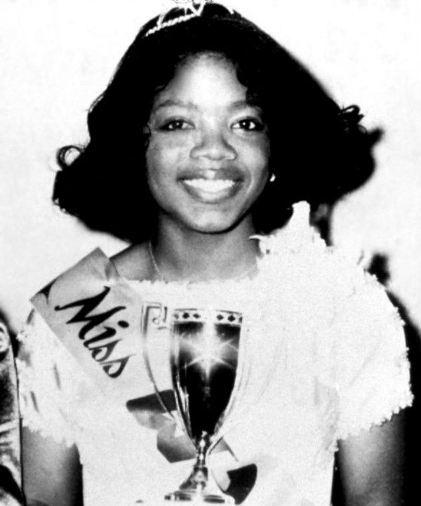 ordinary people: Actress, Media Mogul, Billionaire, and Philanthropist Oprah Winfrey at age 17 as Miss Black Tennessee, 1971.