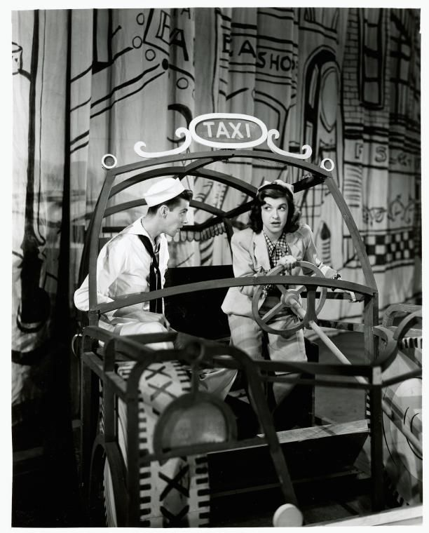 Cris Alexander and Nancy Walker in On the Town.#Broadway #Theater #Musicals