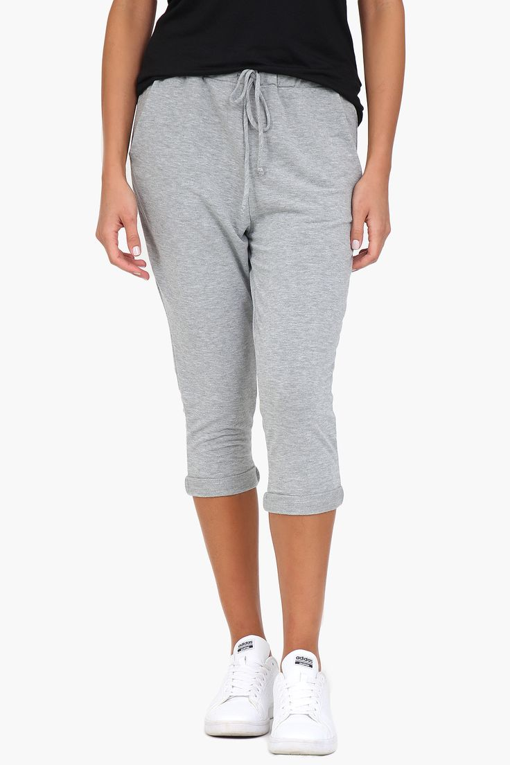 Heather Grey Cropped Joggers