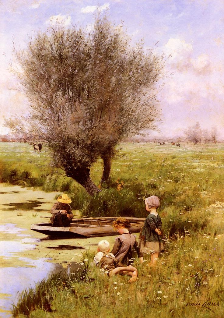 Emile Claus (1849-1924) Afternoon Along The River