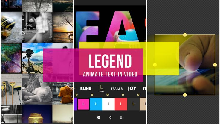 Create GIFs and Short Animations with Legend – Animate Text in Video