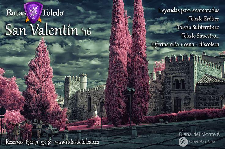 """San Valentín también es especial en """"Rutas de Toledo"""". Tenemos programadas muchas rutas, algunas que sólo hacemos en esas fechas, como """"Toledo Erótico"""" o """"Leyendas de Toledo para enamorados"""". También paquetes con cena. No tardes en reservar, hay pocas plazas. Toda la información en este enlace: http://www.rutasdetoledo.es/index.php/rutas/la-ruta-especial-del-mes.html   Foto: Diana del Monte, http://atrapandoelalma.com/"""