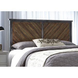 Braden Metal Headboard Panel with Reclaimed Wood Design Printed on Metal Panels   Overstock.com Shopping - The Best Deals on Headboards