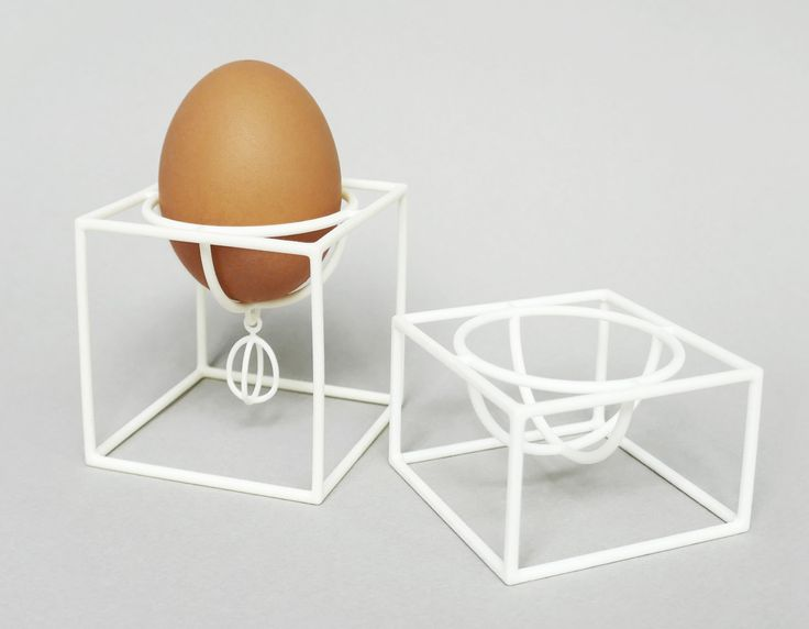 Cube egg cups are created for fun and aim to keep you smiling. This is a contemporary way of presenting breakfast or a fun meal at home, cafe or restaurant.   It is perfect homeware item for everyday use or a special occasion like Easter.  Both egg cups are produced via laser sintering (3d printing) of nylon plastic, which is a very durable and flexible material.