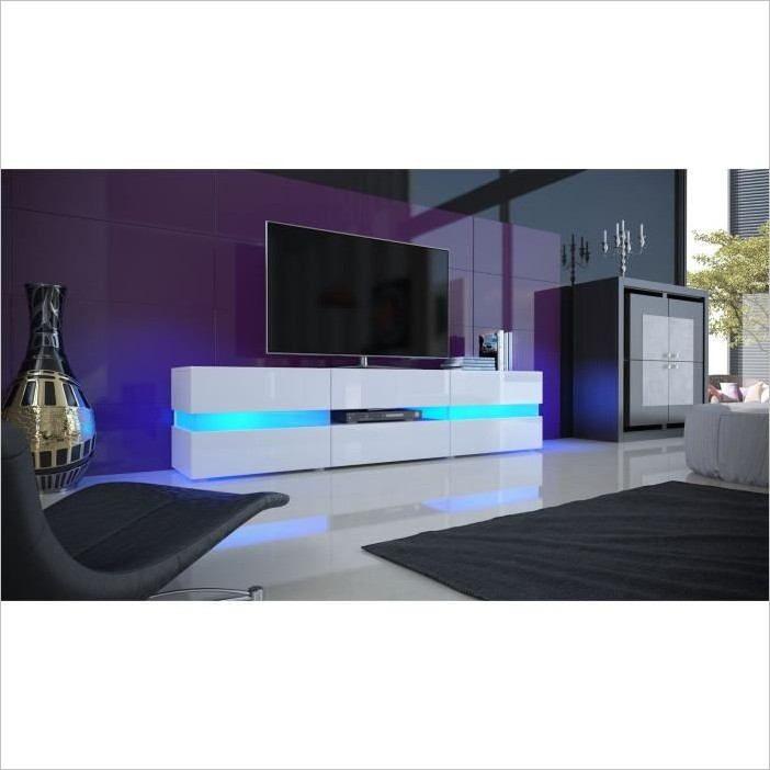 Lg Cohade Salle A Manger Moderne Meuble Tv Blanc Meuble Tv Led Meuble Tv Blanc Laque